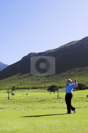 Golf #03 stock photo, Man playing golf. by Sean Nel