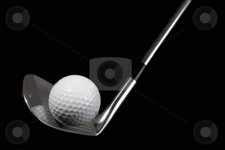 Golf Clubs #11 stock photo, 7-iron (Golf Club) and golf ball  by Sean Nel
