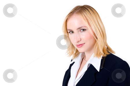Lena Talberg #1 stock photo, Business woman in formal black suit - copy space by Sean Nel