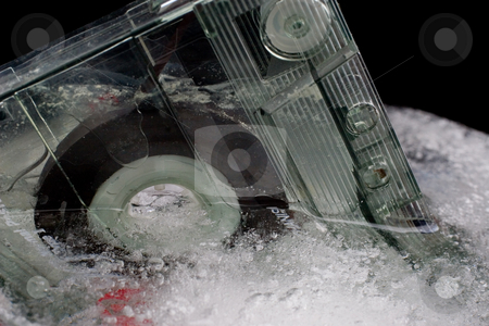Ice and Tape #1 stock photo, Old tape frozen by Sean Nel