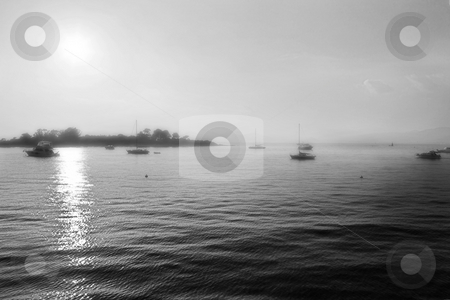 Isledemarguerite #37 stock photo, The famous Ile Sainte Marguerite Island Jail, across from Cannes, France - Black and White, Dreamy look by Sean Nel