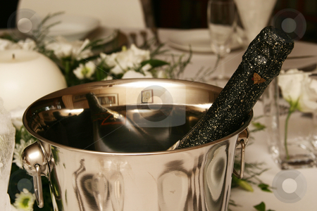 Champagne stock photo, Champagne in Ice Bucket by Sean Nel