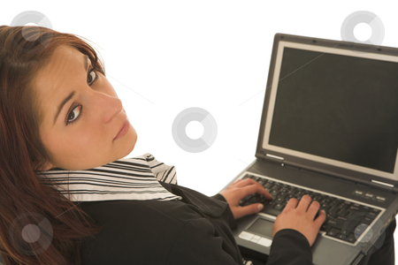 Ecommerce #05 stock photo, Woman on notebook computer by Sean Nel