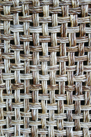 Wicker Chair back stock photo, The backrest of a wicker chair by Sean Nel