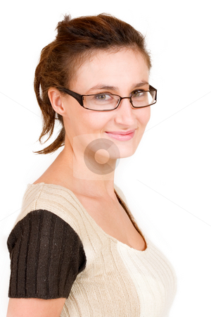 Business Lady #102 stock photo, Business woman with glasses by Sean Nel