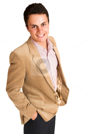 Businessman #118 stock photo, Businessman standing with hands in his pocket. Smiling. by Sean Nel
