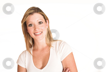 Laura Hopton #38 stock photo, Business woman standing with arms crossed - copy space by Sean Nel