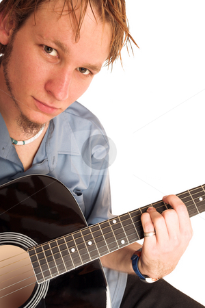 David Badenhorst #1 stock photo, Young man with guitar. by Sean Nel