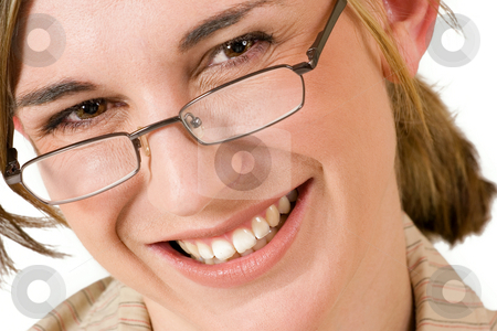 Felicity Calitz #10 stock photo, Business woman with reading glasses - close up by Sean Nel
