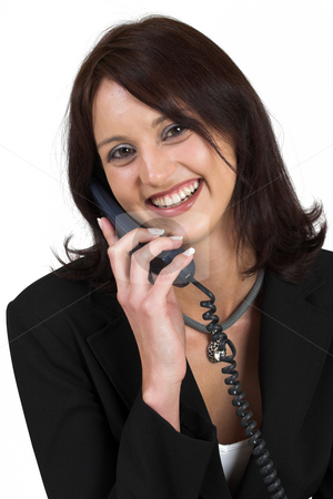 Business Lady #53 stock photo, Business woman on the telephone by Sean Nel