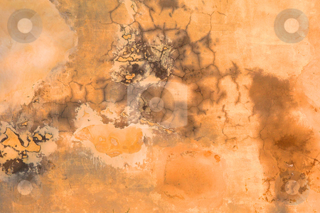 Grunge Wall Texture stock photo, Burnt orange Grunge Wall Texture with cracks and dump spots - design by Sean Nel
