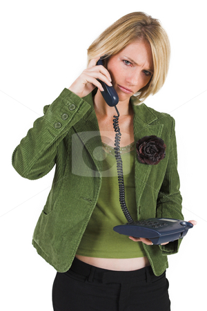 Heidi Booysen #8 stock photo, Business woman green jacket, talking on the phone by Sean Nel