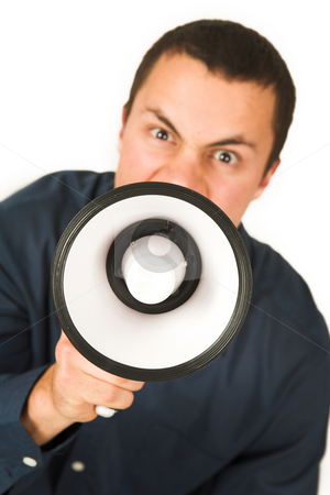 Franscoisbooysen #172 stock photo, Man with Megaphone  by Sean Nel