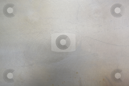 Scratched metal background stock photo, Light grey scratched metal background by Sean Nel