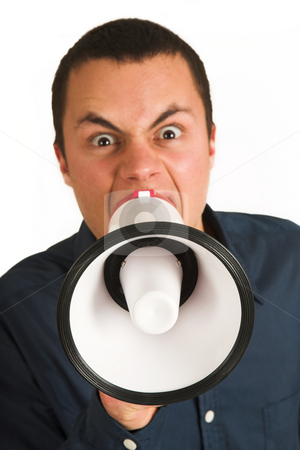 Franscoisbooysen #176 stock photo, Man with Megaphone  by Sean Nel