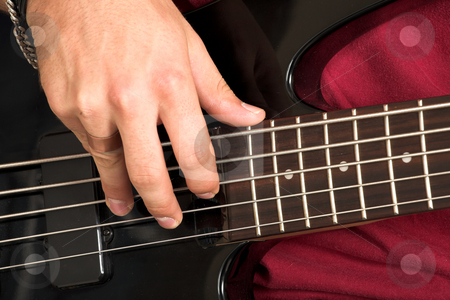 Franscois Booysen #10 stock photo, Close-up of person playing guitar. by Sean Nel