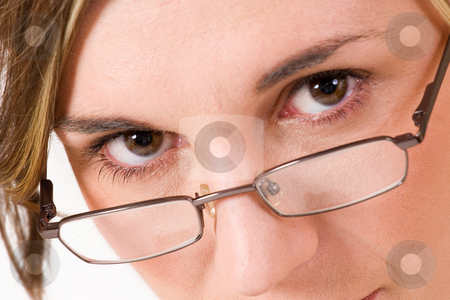 Felicity Calitz #9 stock photo, Business woman with reading glasses - close-up by Sean Nel