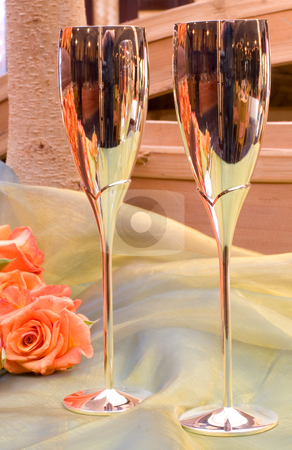 Wang Thai #10 stock photo, Champagne glasses and roses by Sean Nel