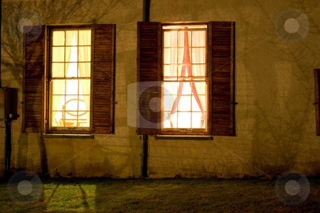 Cape - Farm House #3 stock photo, Old farm house converted into a small hotel, Night Scene - Colesberg, South Africa by Sean Nel