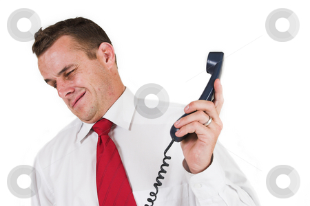 Businessman #44 stock photo, Business man being shouted at on the phone by Sean Nel