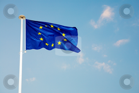 Cannes #60 stock photo, The blue European Union flag by Sean Nel