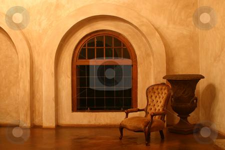 Victorian Chair stock photo, Victorian Chair in Tuscan Villa by Sean Nel