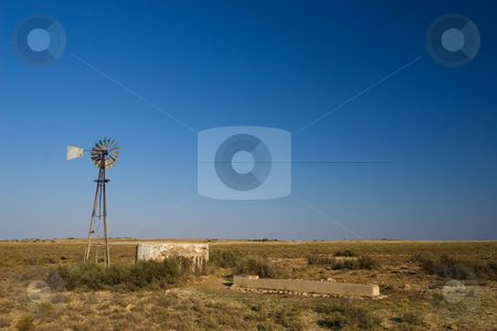 Cape windpump #3 stock photo, Windpump and cement dam just outside Colesberg, south Africa by Sean Nel