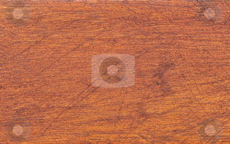 Scratched wooden background stock photo, Brown wooden plank background with scratches by Sean Nel