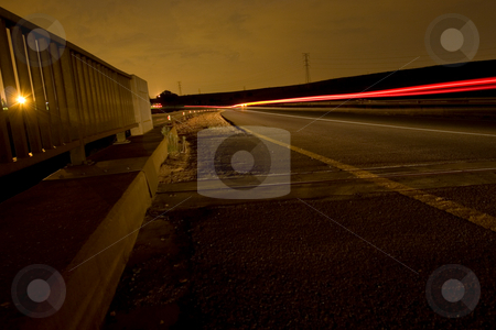 Nightlife #4 stock photo, Bridge and traffic at night time by Sean Nel