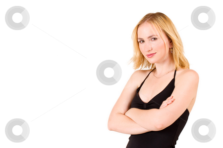 Lena Talberg #9 stock photo, Business woman in black top standing with arms crossed by Sean Nel