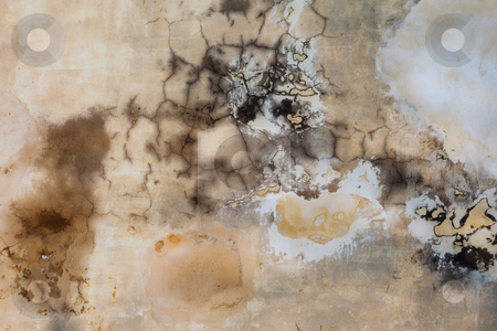 Grunge Wall Texture stock photo, Inked Brown Grunge Wall Texture with cracks and dump spots - design by Sean Nel