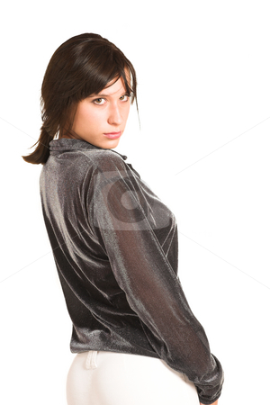 People #23 stock photo, Business woman dressed in a smart shirt. by Sean Nel