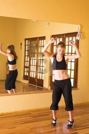 Dancer #30 stock photo, A Female Dancer practicing in her studio by Sean Nel
