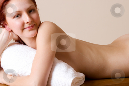 Trudy Lee Markottter #11 stock photo, Woman, naked in beauty salon by Sean Nel