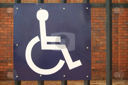 Disabled parking stock photo, Blue disabled parking sign by Sean Nel