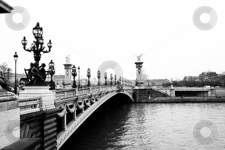 Paris #4 stock photo, Pont Alexandre III - Bridge in Paris, France.  Movement on cars driving  by Sean Nel