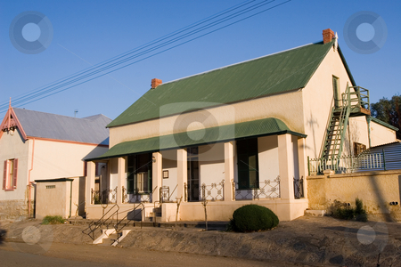Guesthouse #2 stock photo, Guesthouse with green roof in Colesberg, South Africa by Sean Nel