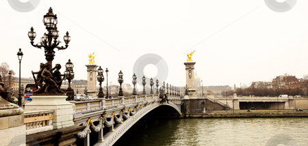 Paris #5 stock photo, Pont Alexandre III - Bridge in Paris, France.  Movement on cars driving  by Sean Nel