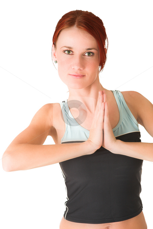 Gym #80 stock photo, Woman standing in gym wear. by Sean Nel