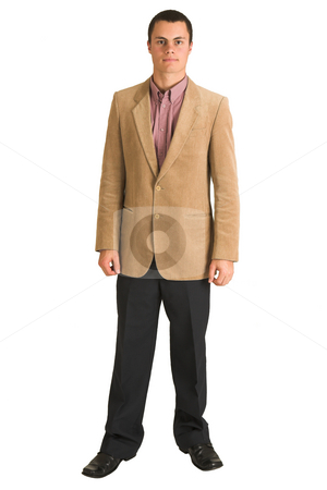 Businessman #191 stock photo, Businessman in a pink shirt and camel coloured jacket by Sean Nel