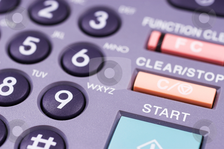 Key pad #2 stock photo, Photocopier keypad with green start button - Shallow Depth of Field by Sean Nel