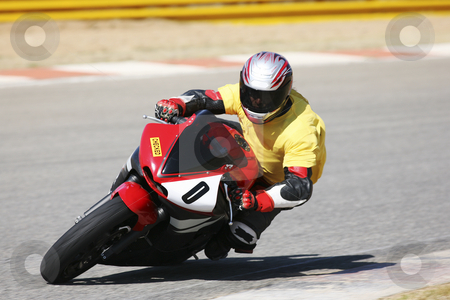 Superbike #58 stock photo, High speed Superbike on the circuit  by Sean Nel