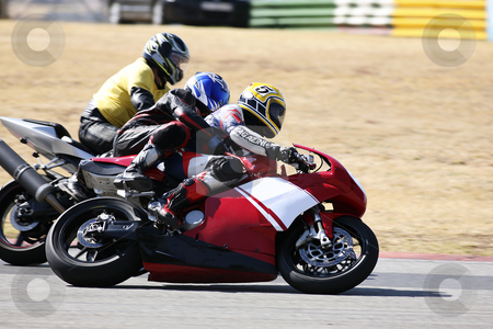 Superbike #78 stock photo, High speed Superbike on the circuit  by Sean Nel
