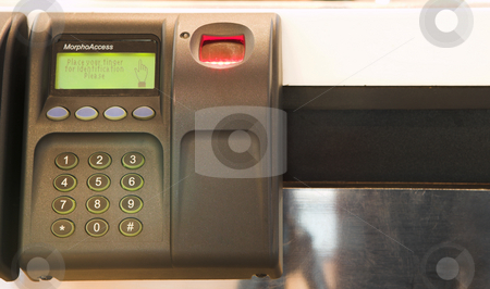 Office #17 stock photo, An electronic identification device by Sean Nel