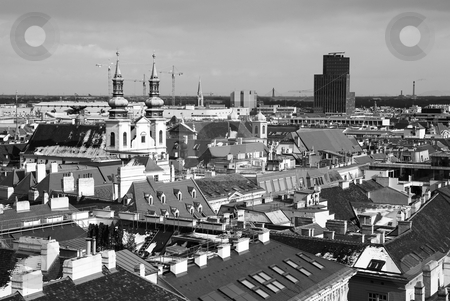 Vieanna #60 stock photo, The City Skyline of Vienna, Austria from the roof of the St Stephans DOM by Sean Nel