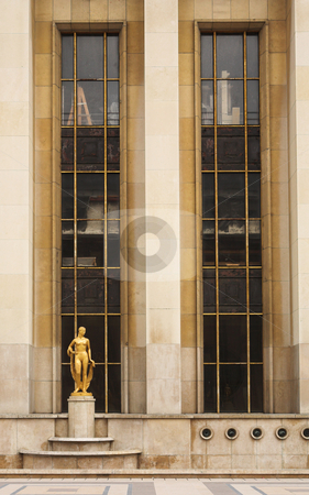 Paris #61 stock photo, An old building with golden statues in Paris, France. by Sean Nel