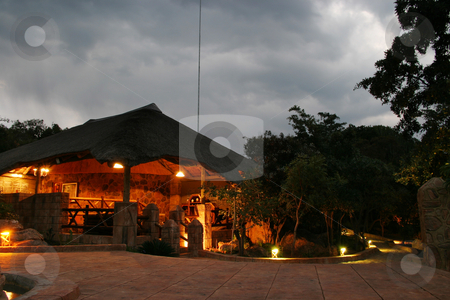 Safari Lodge stock photo, Hunting safari lodge by Sean Nel