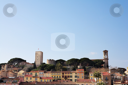 Cannes #6 stock photo, The skyline from the harbour square in Cannes, France by Sean Nel