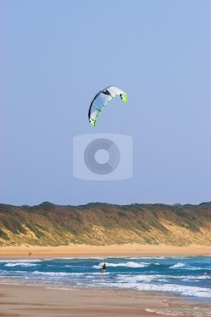 Sudwana #9 stock photo, A person kite surfing in Sudwana. by Sean Nel