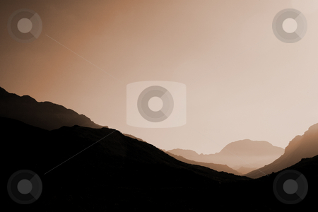 Landscape #04 stock photo, Mountains in sunset. by Sean Nel
